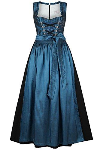 Damen Stützle Dirndl lang festlich blau, blau, 46