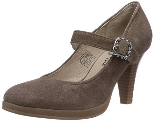 Bergheimer Trachtenschuhe Regina, Damen Pumps, Braun (Brown Antique), 36 EU