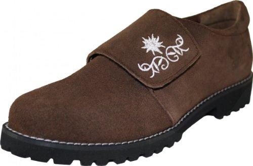Damen Haferlschuhe Trachtenschuhe für Trachten lederhosen dunkelbraun, Größe:40