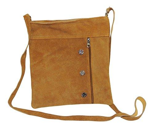 MS-Trachten Dirndltasche Handtasche Ledertasche Classic (camel)