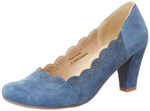 Hirschkogel by Andrea Conti Damen 3003409 Pumps, Blau (Jeans), 38 EU