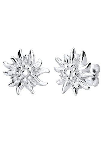 Elli Damen-Ohrstecker Edelweiss 925 Sterling Silber 305482914