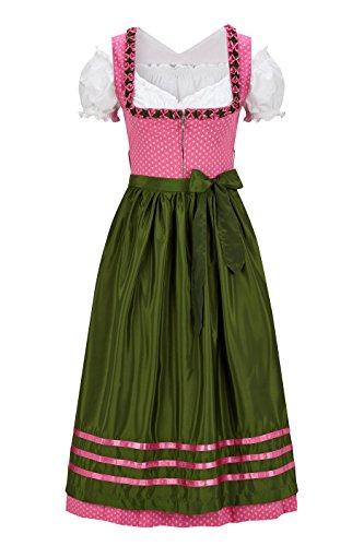 Original Steindl München-Salzburg Dirndl 3/4 lang-3tlg. Damen rosa-42