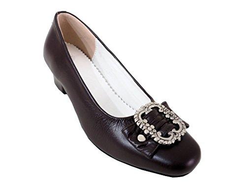 f7c71ed8f5cfa3 Damen Trachtenschuhe Dirndl Schuhe Trachten Pumps – Echtes Rindnappaleder  Premium