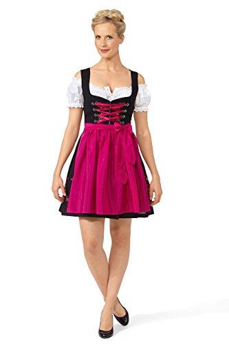 Original Steindl München-Salzburg Dirndl 2tlg. Damen schwarz/pink-36