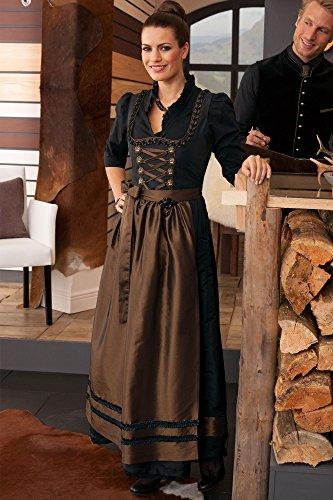 Jobeline Dirndl Trachtenkleid Kleid und Schürze Balkonettdirndl Modell: Helena Gr. 36 Farbe: Schwarz / Braun Länge: ca. 98 cm Dirndl 55% Nylon, 45% Polyester Schürze 55% Nylon, 45% Polyester NEU! Dirndl Trachtenkleid