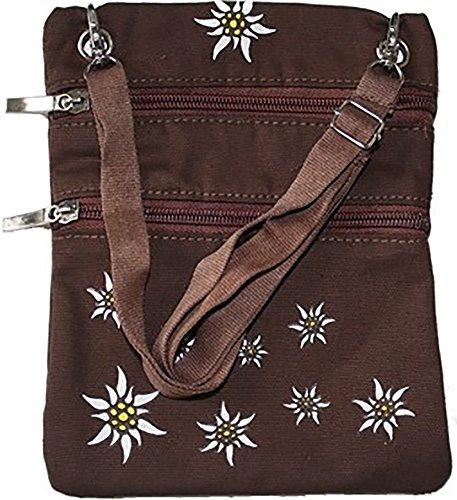 Trachtentasche Dirndl Taschen Trachten Baumwolltasche Dunkelbraun