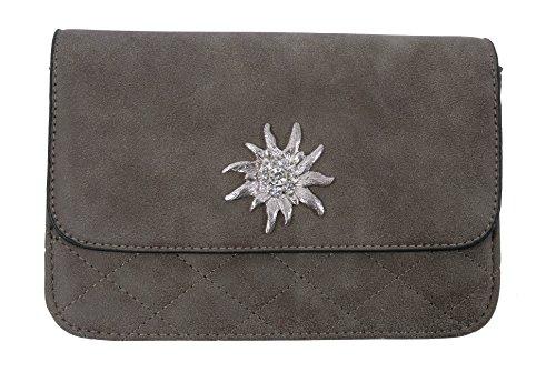 Trachtentasche/Dirndltasche/Damentasche Handtasche/Umhängetasche/Ledertasche – Braun
