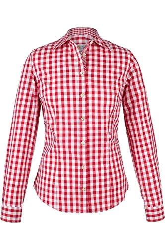 Damen Almsach Trachten-Bluse rot-weiß kariert 'Maria', rot, 36