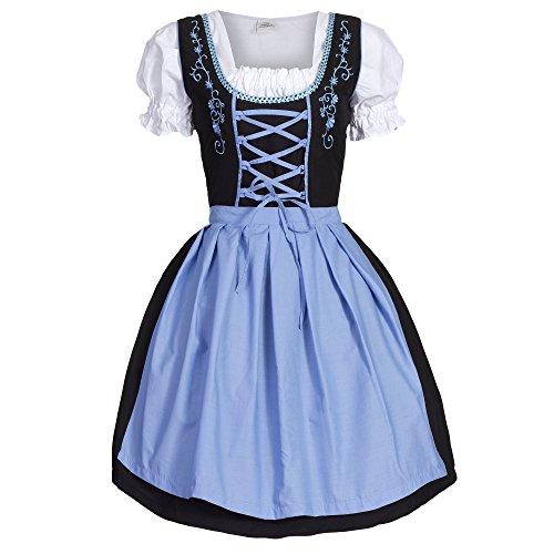 Dirndl 3 tlg.Trachtenkleid Kleid, Bluse, Schürze